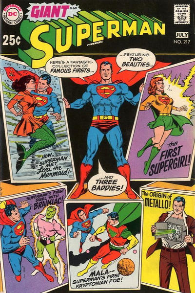 Cover for Superman (DC, 1939 series) #217