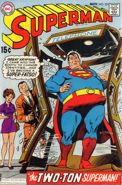 Cover for Superman (DC, 1939 series) #221