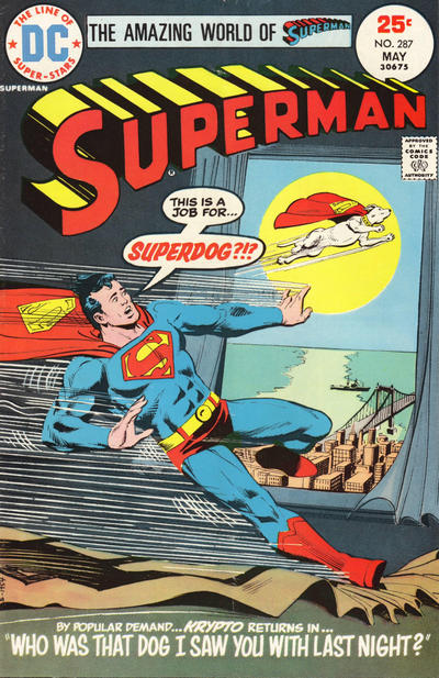 Cover for Superman (DC, 1939 series) #287