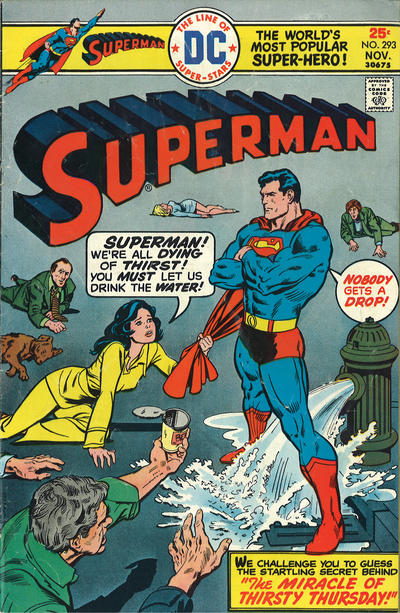 Cover for Superman (DC, 1939 series) #293
