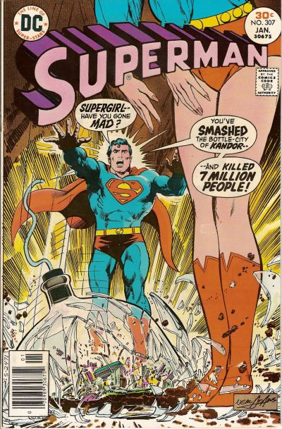 Cover for Superman (DC, 1939 series) #307