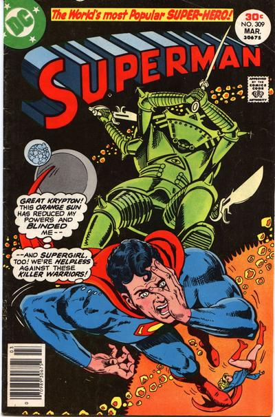 Cover for Superman (DC, 1939 series) #309