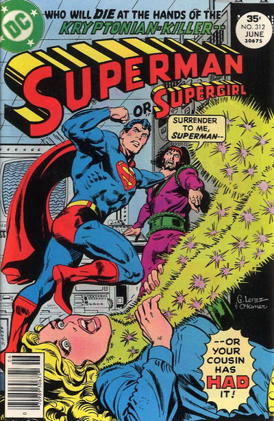Cover for Superman (DC, 1939 series) #312