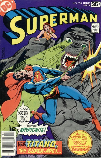Cover for Superman (DC, 1939 series) #324
