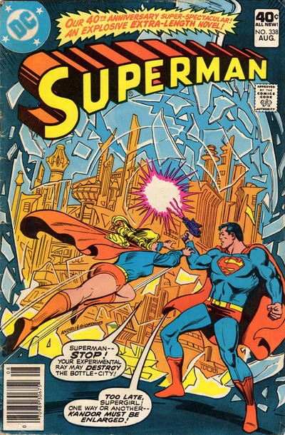 Cover for Superman (DC, 1939 series) #338
