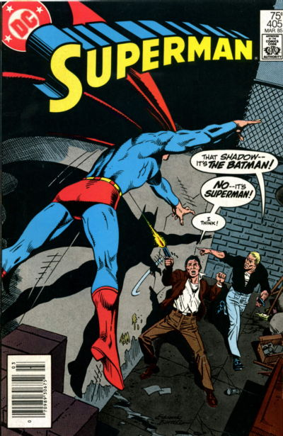 Cover for Superman (DC, 1939 series) #405