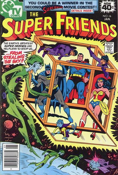 Cover for Super Friends (DC, 1976 series) #16 [Whitman cover]