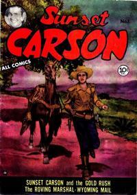 Cover Thumbnail for Sunset Carson Comics (Charlton, 1951 series) #1