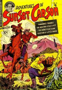 Cover Thumbnail for Sunset Carson Comics (Charlton, 1951 series) #4