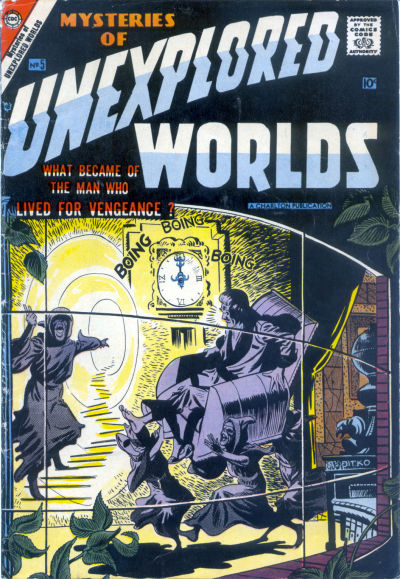 Cover for Mysteries of Unexplored Worlds (Charlton, 1956 series) #5