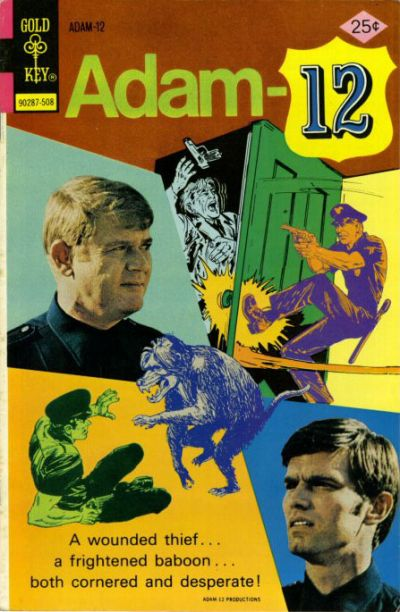 Cover for Adam-12 (Western, 1973 series) #8 [Gold Key]