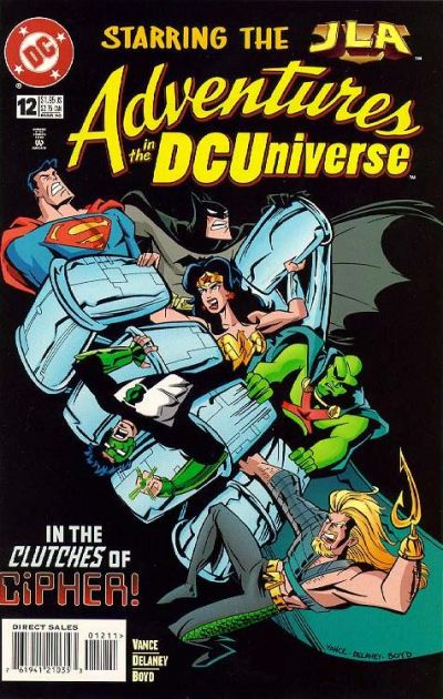 Cover for Adventures in the DC Universe (DC, 1997 series) #12