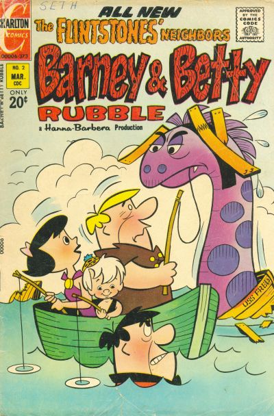 Cover for Barney and Betty Rubble (Charlton, 1973 series) #2