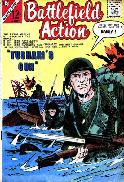 Cover for Battlefield Action (Charlton, 1957 series) #56