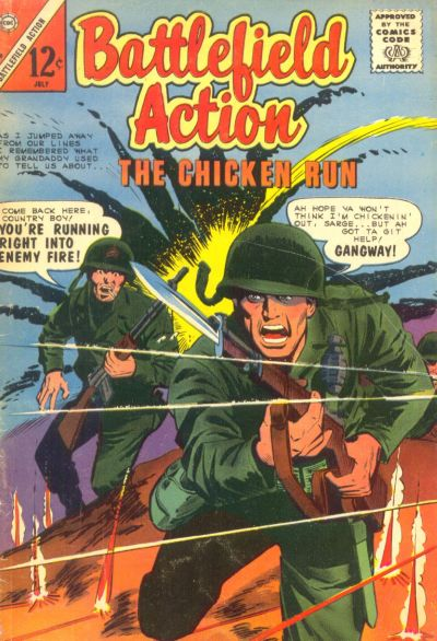 Cover for Battlefield Action (Charlton, 1957 series) #58