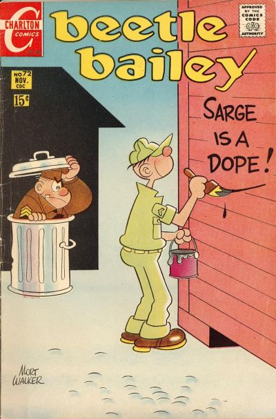 Cover for Beetle Bailey (Charlton, 1969 series) #72
