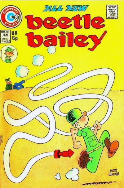 Cover for Beetle Bailey (Charlton, 1969 series) #104