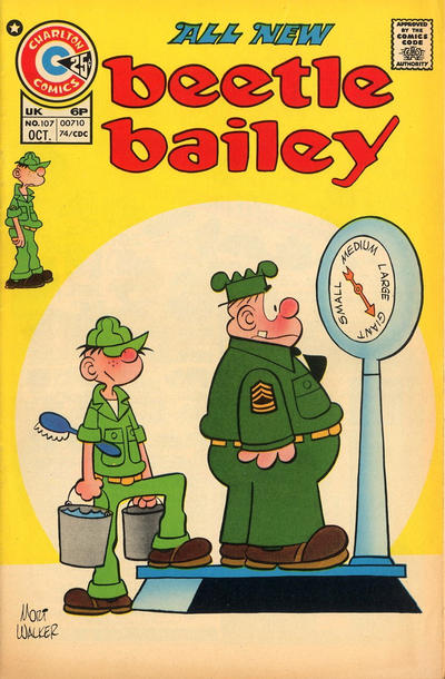 Cover for Beetle Bailey (Charlton, 1969 series) #107