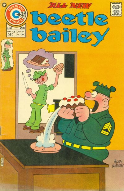 Cover for Beetle Bailey (Charlton, 1969 series) #108