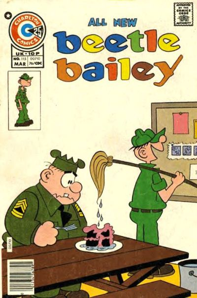 Cover for Beetle Bailey (Charlton, 1969 series) #115