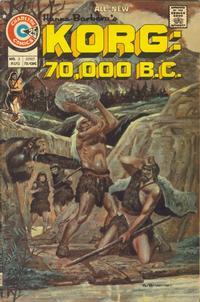 Cover Thumbnail for Korg: 70,000 B.C. (Charlton, 1975 series) #2