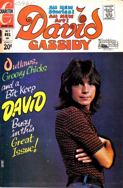 Cover for David Cassidy (Charlton, 1972 series) #9