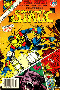 "Cover Thumbnail for Charlton Action: Featuring ""Static"" (Charlton, 1985 series) #11"