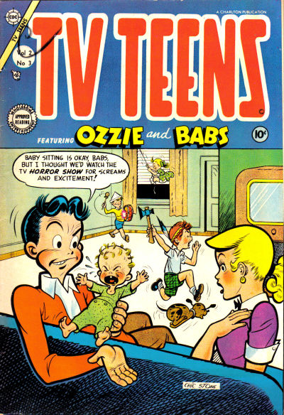 Cover for TV Teens (Charlton, 1954 series) #3