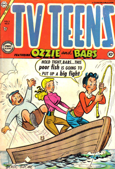 Cover for TV Teens (Charlton, 1954 series) #4
