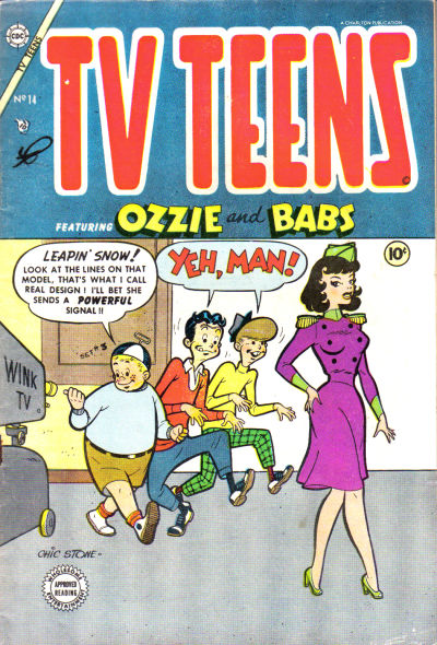 Cover for TV Teens (Charlton, 1954 series) #14 [1]