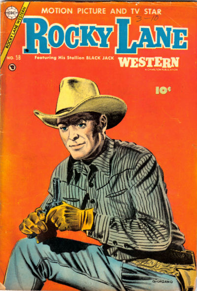 Cover for Rocky Lane Western (Charlton, 1954 series) #58