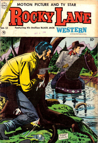 Cover for Rocky Lane Western (Charlton, 1954 series) #64