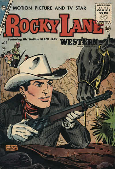 Cover for Rocky Lane Western (Charlton, 1954 series) #70