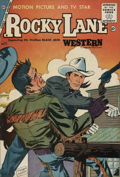 Cover for Rocky Lane Western (Charlton, 1954 series) #71