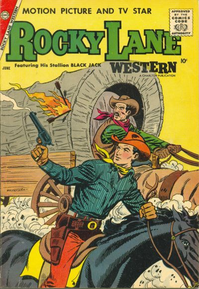 Cover for Rocky Lane Western (Charlton, 1954 series) #80