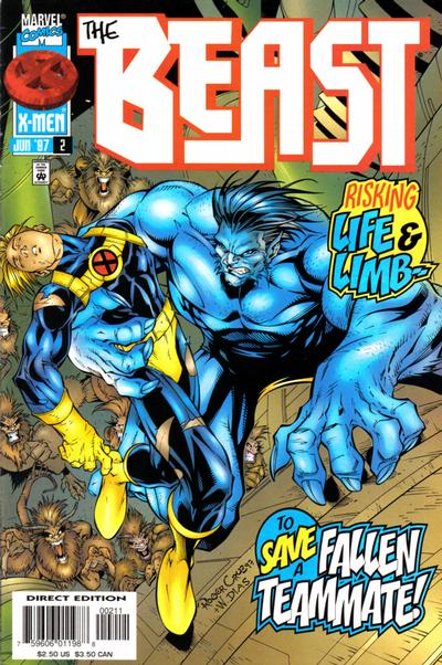 Cover for Beast (Marvel, 1997 series) #2 [Newsstand Edition]
