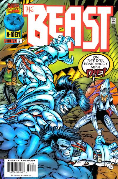 Cover for Beast (Marvel, 1997 series) #3 [Direct Edition]