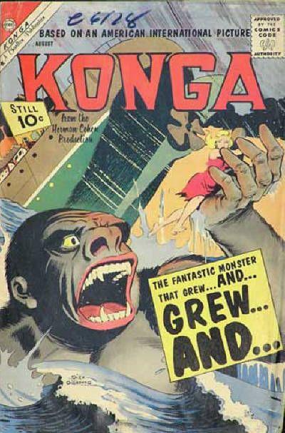 Cover for Konga (Charlton, 1960 series) #2