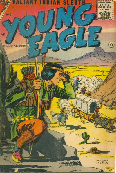 Cover for Young Eagle (Charlton, 1956 series) #4