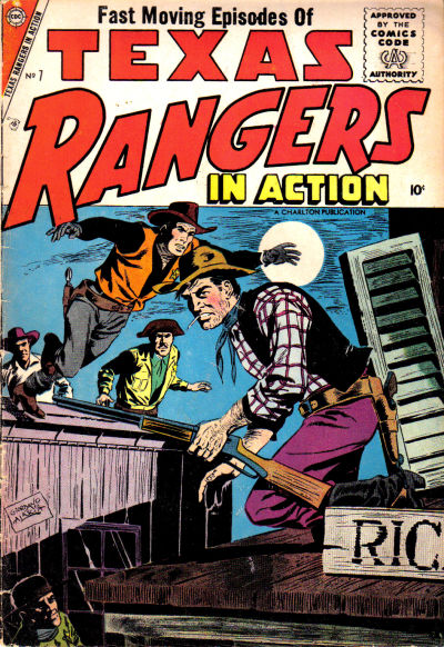 Cover for Texas Rangers in Action (Charlton, 1956 series) #7