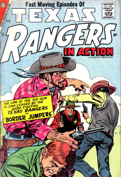 Cover for Texas Rangers in Action (Charlton, 1956 series) #8