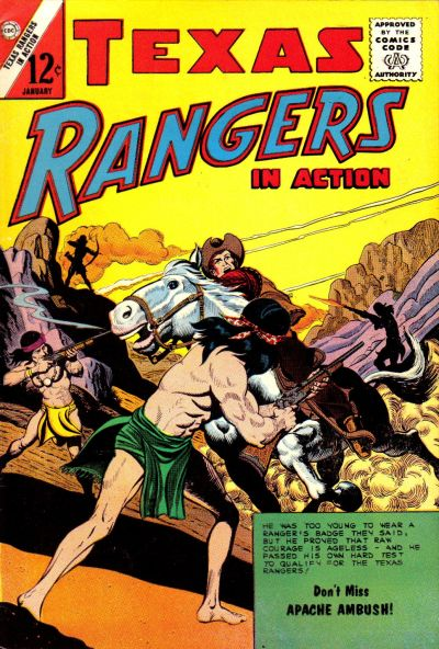 Cover for Texas Rangers in Action (Charlton, 1956 series) #37