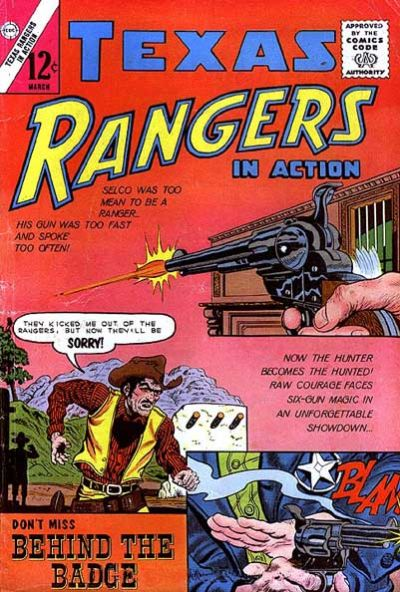 Cover for Texas Rangers in Action (Charlton, 1956 series) #38