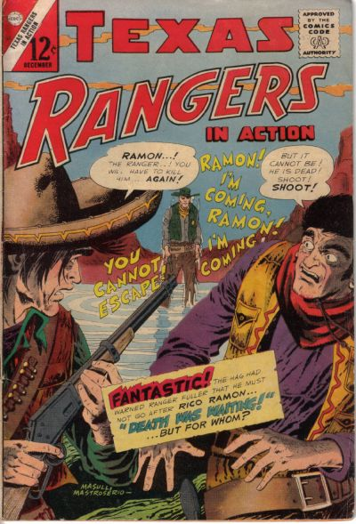 Cover for Texas Rangers in Action (Charlton, 1956 series) #53