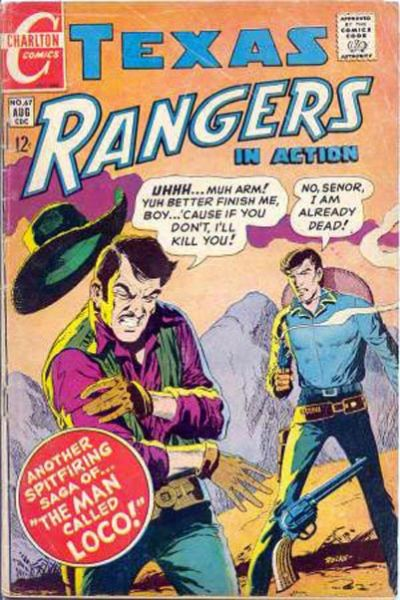 Cover for Texas Rangers in Action (Charlton, 1956 series) #67