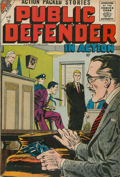 Cover for Public Defender in Action (Charlton, 1956 series) #9