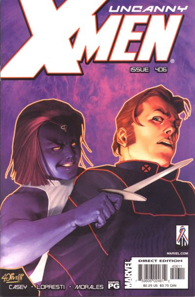 Cover for The Uncanny X-Men (Marvel, 1981 series) #406 [Direct Edition]