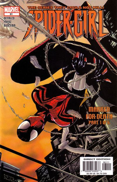Cover for Spider-Girl (Marvel, 1998 series) #61