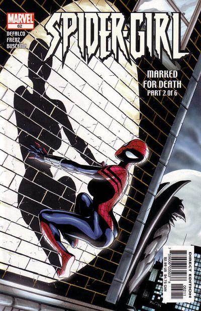 Cover for Spider-Girl (Marvel, 1998 series) #62