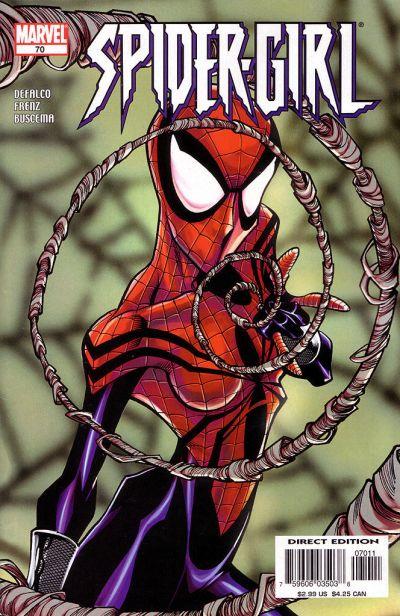 Cover for Spider-Girl (Marvel, 1998 series) #70